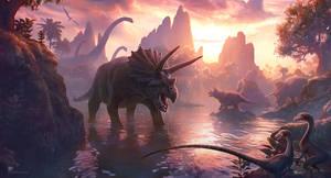 Cretaceous Sunset by kerembeyit