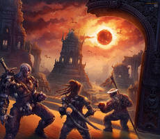 Dark Sun Dwellers by kerembeyit