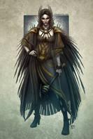 Nira the Raven Priestes by kerembeyit