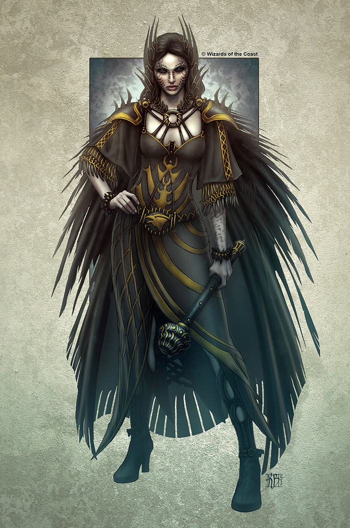 Nira the Raven Priestes by kerembeyit