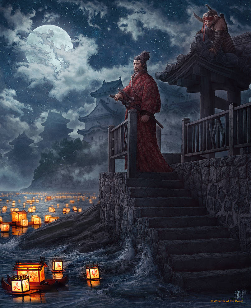 Lanterns and the Moon by kerembeyit