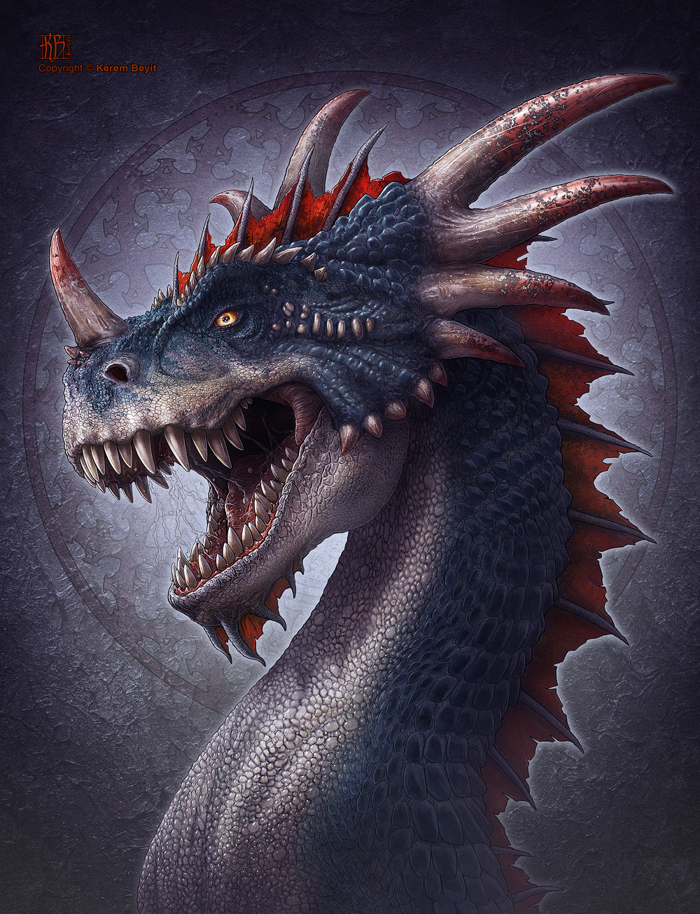 Bloodhorn Dragon by kerembeyit