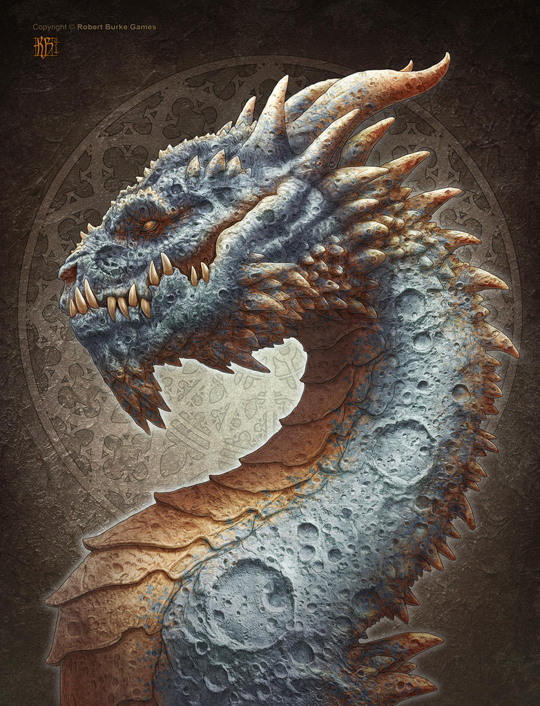 Moon Dragon by kerembeyit