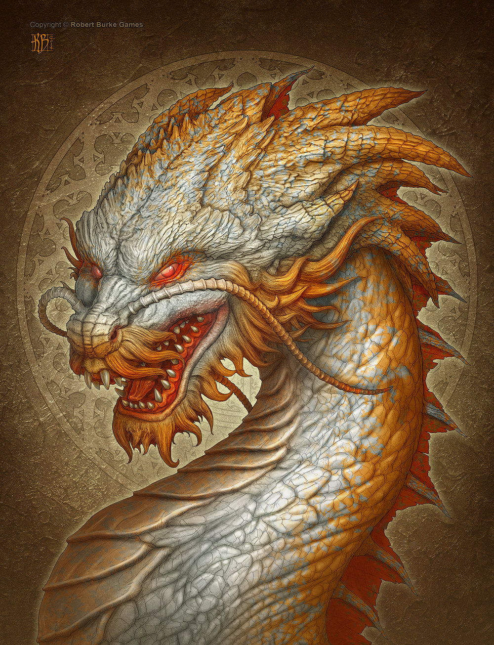 Oriental dragon by kerembeyit on deviantart for Japanese dragon painting
