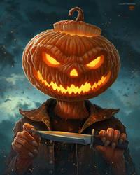 Pumpkin Head by kerembeyit