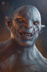Hobbit Fanart - Azog the Defiler by kerembeyit