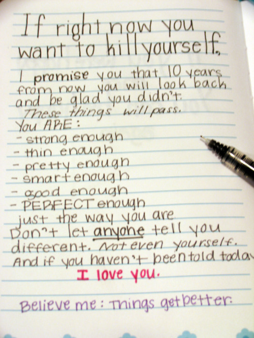 if right now you want to kill yourself by