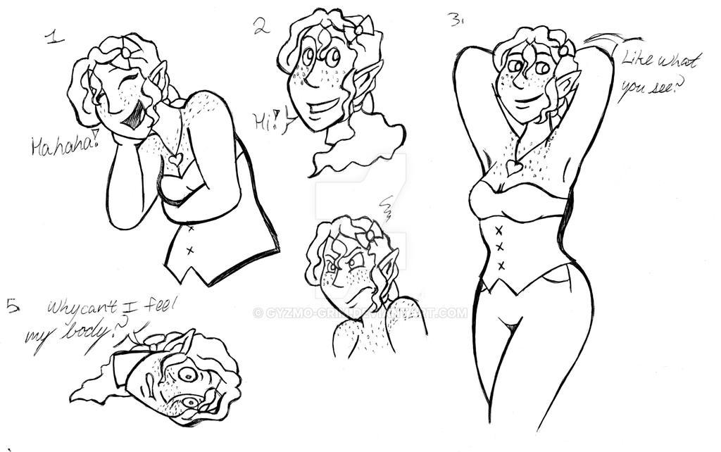 Esmeralda sketch dump by LadyQueenBee