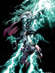 Thor and Cap by rachellerosenberg