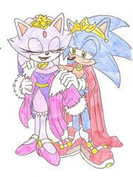 Sonaze - King and Queen by Sonicguru
