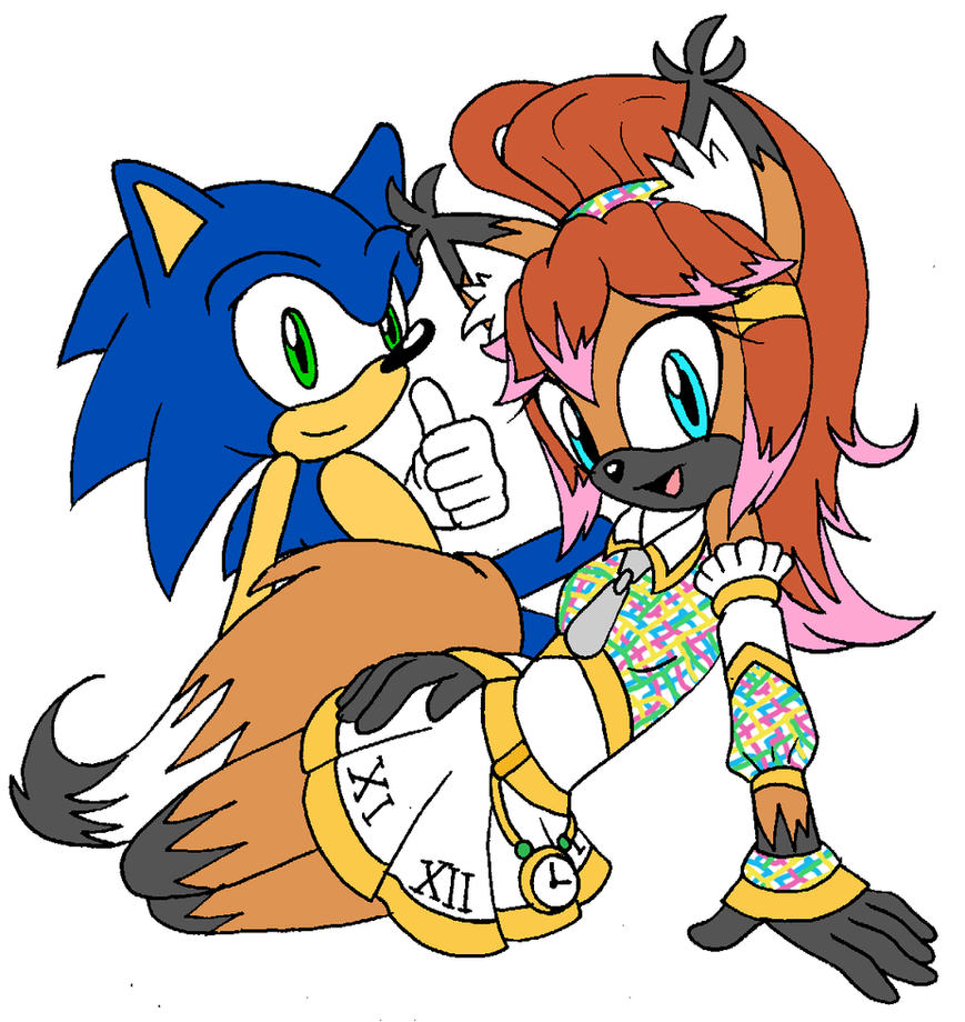 Ember and Sonic by Sonicguru