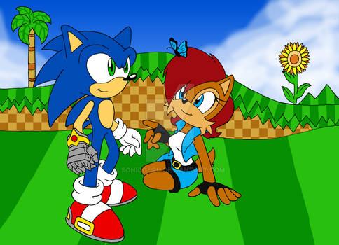 Sonic and Sally at Splash Hill