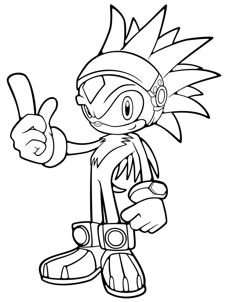 silver sonic coloring pages - photo#16