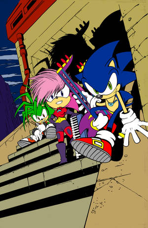 Sonic Universe 50 Cover Coloured
