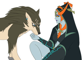 Midna and Wolf Link by Sonicguru