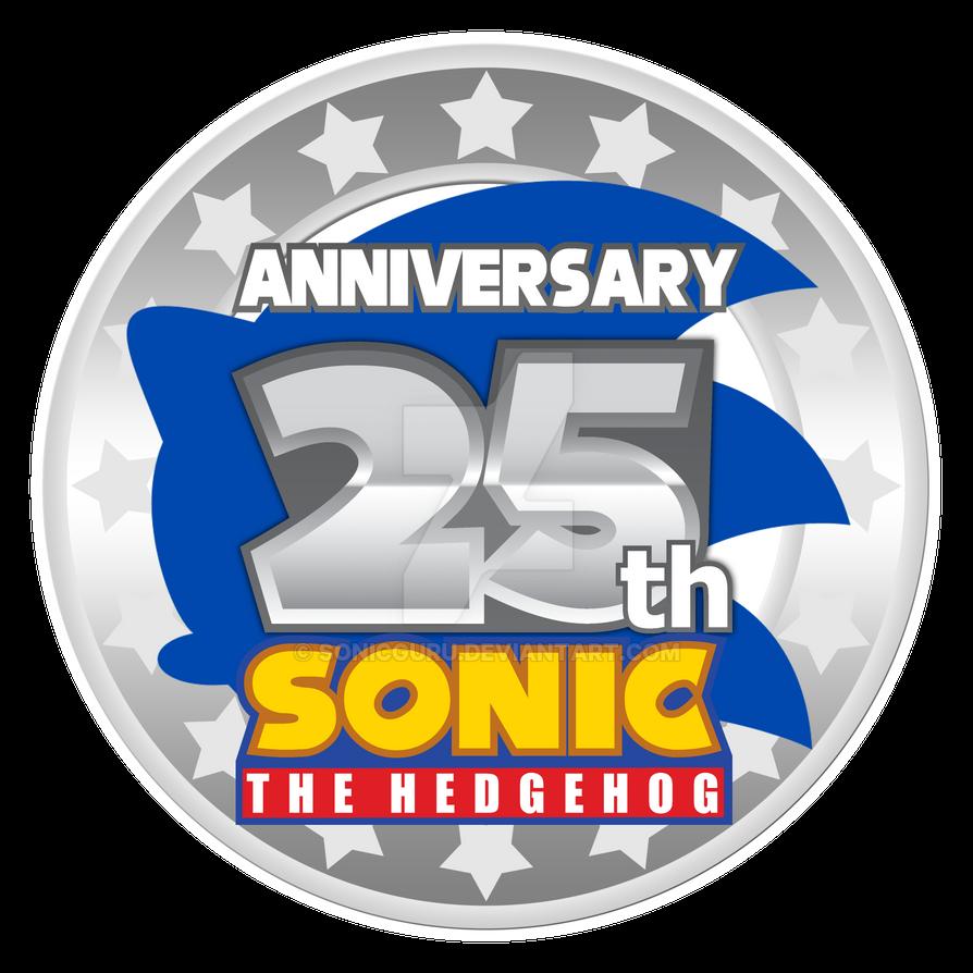 Sonic 25th Anniversary Logo - REMAKE by Sonicguru