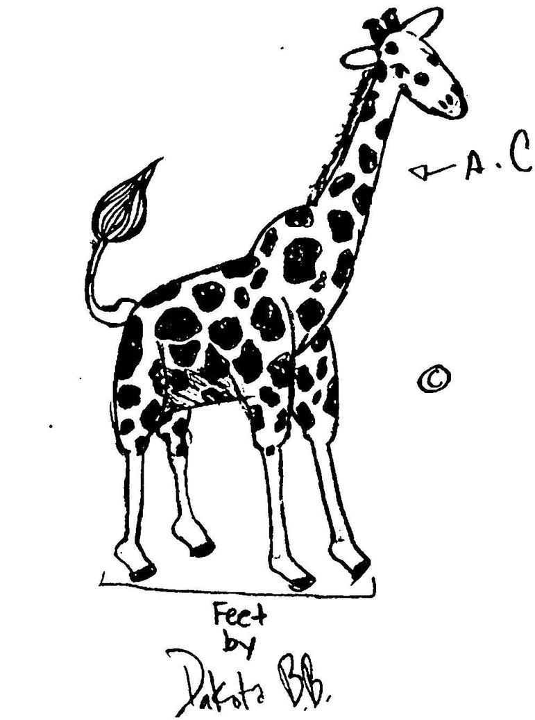 Cute Drawings of Giraffes Cute Giraffe by