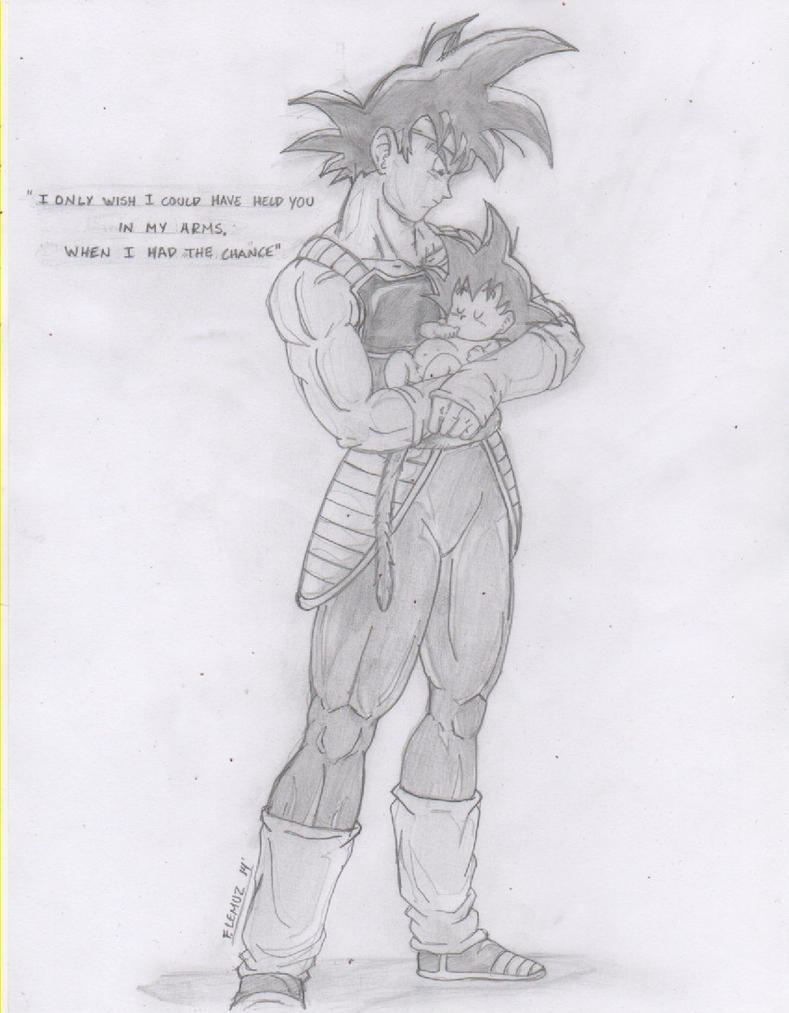 Bardock and baby goku by FJL22 by fjl22 on DeviantArt