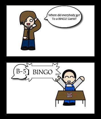 Resident Evil 4 Comic, Bingo? by rpgfreak