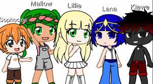 The Alola Gang in Gacha Club