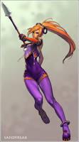 Spear Lady by Sandfreak