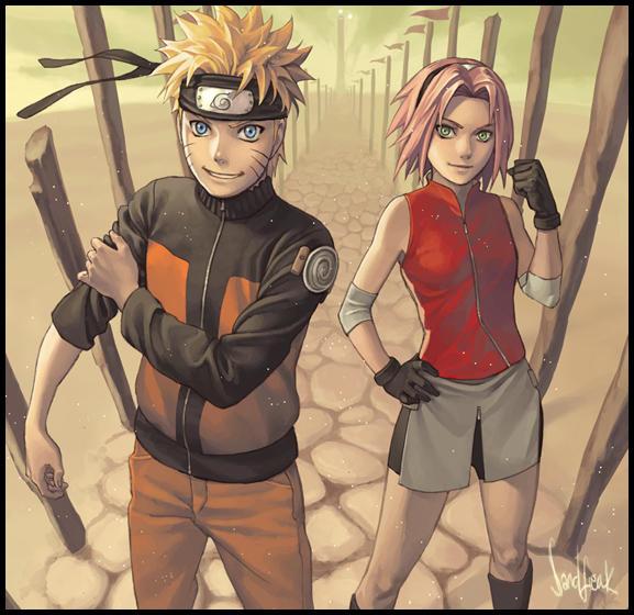 Naruto and Sakura by Sandfreak