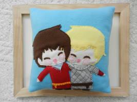 lilybells merthur 14x14 fleece pillow by celina-tamwood
