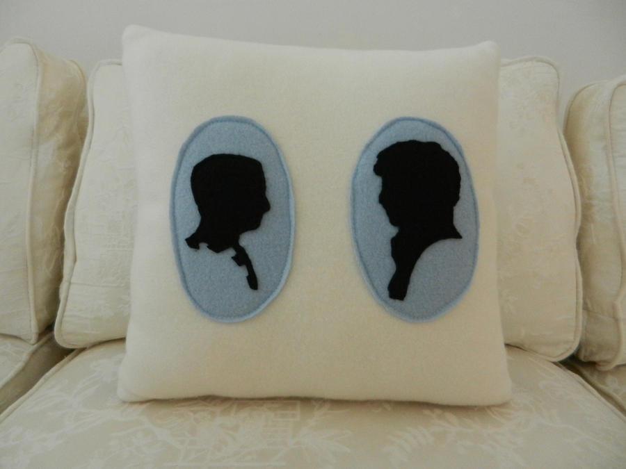 johnlock cameo 14x14 pillow by celina-tamwood