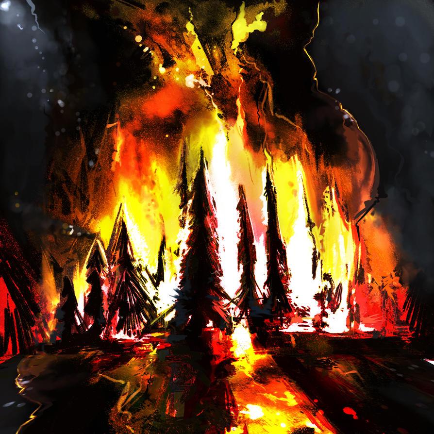 Forest Fire by blake-drake on DeviantArt