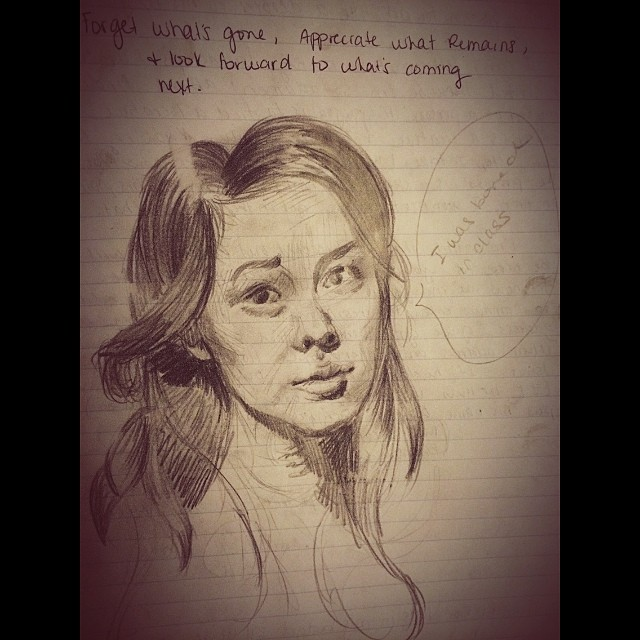 wednesday night sketch: Self portrait by PBTGOART