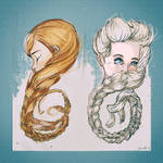 Anna And Elsa by PBTGOART