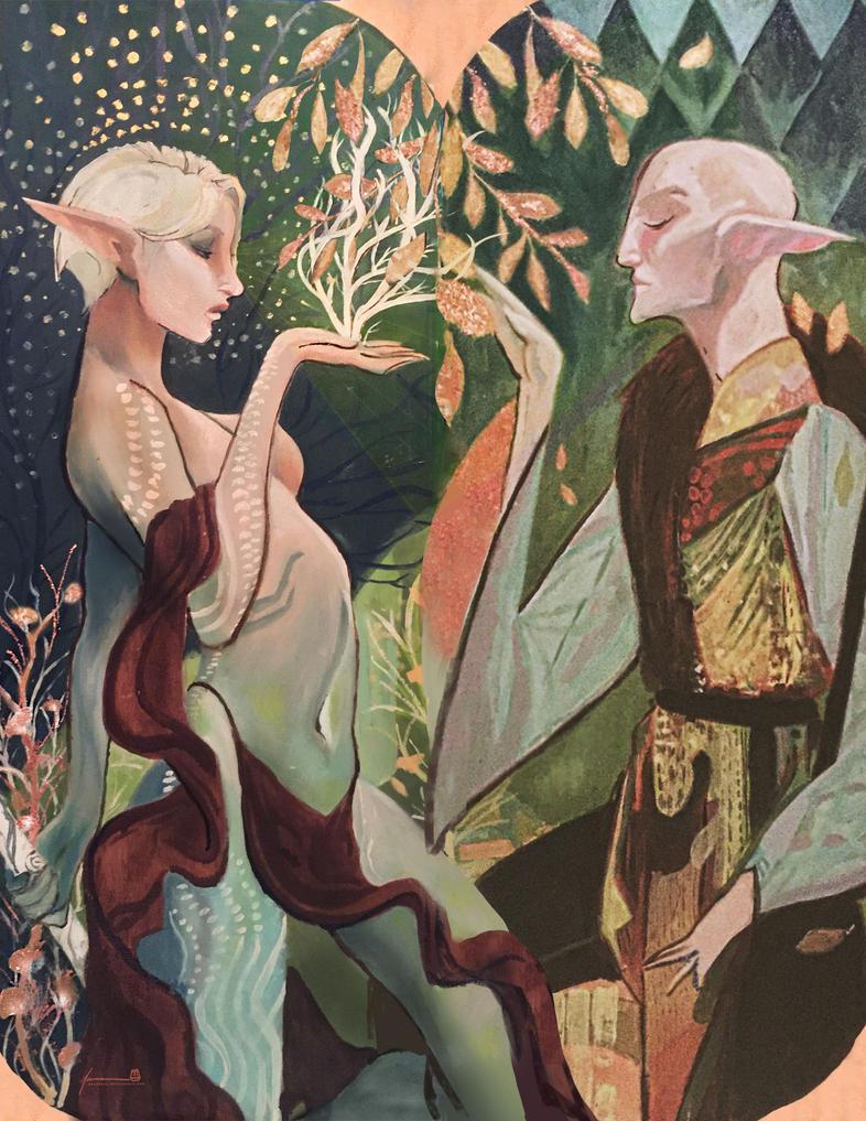 Solas and Alana by PBTGOART