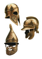 Greek Bronze Helmets by DamianOswald