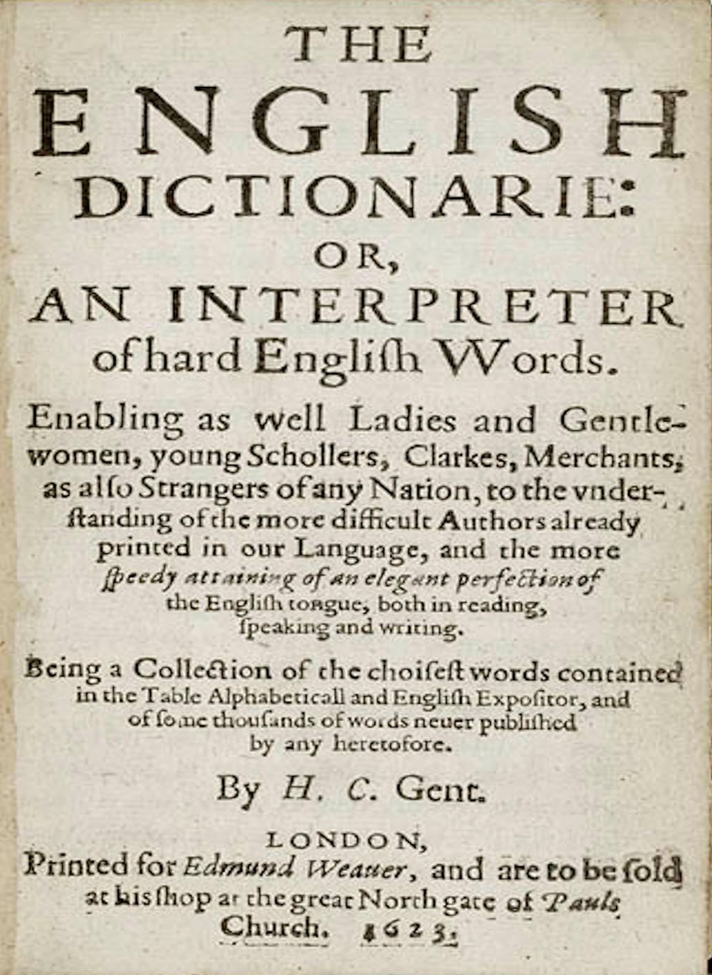 English Dictionary 1623 by Spedding-Stock on DeviantArt