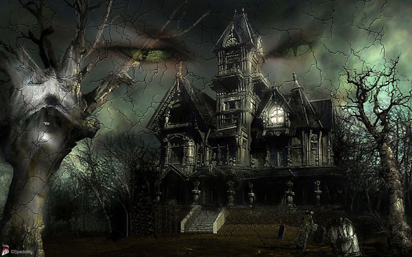 60 cute halloween wallpapers hq garmahis design magazine - Scary animated backgrounds ...