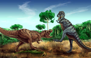 Cretaceous Confrontation by Art-Minion-Andrew0