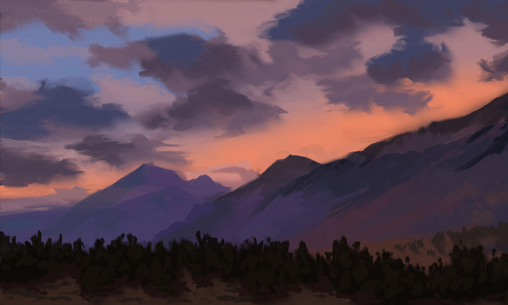 Mountains Speedpaint by Art-Minion-Andrew0