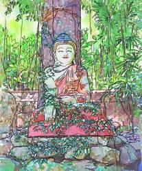 Travelogue - Overgrown Buddha - Chaingmai Thailand