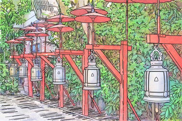 Travelogue - Buddhist Temple Bells by Art-Minion-Andrew0