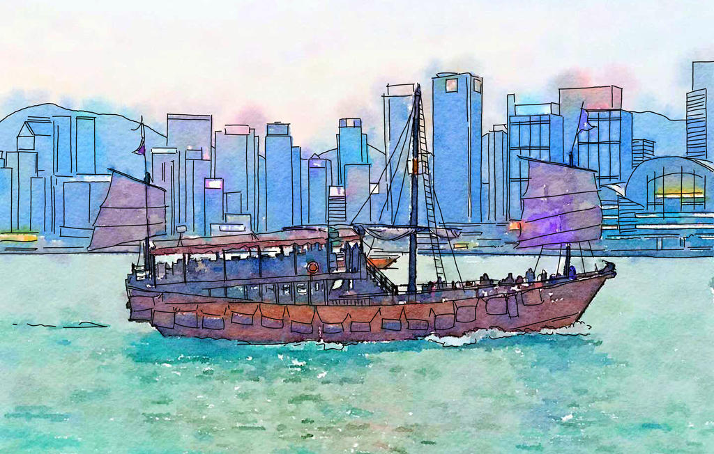 Travelogue - Harbor tour, Hong Kong by Art-Minion-Andrew0