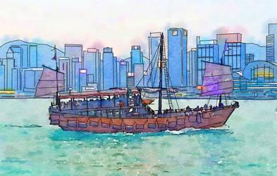 Travelogue - Harbor tour, Hong Kong