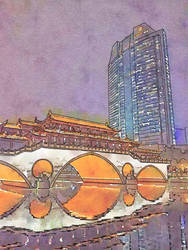 Travelogue - Bridge, Chengdu, China