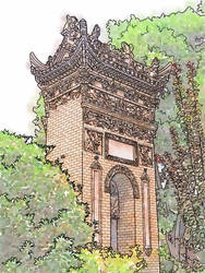 Travelogue - Daipuyuan Mosque, Xian, China. by Art-Minion-Andrew0