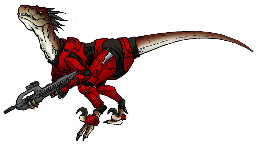 Halo Velociraptor by Art-Minion-Andrew0