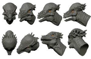 Pachycephalosaurus Bust