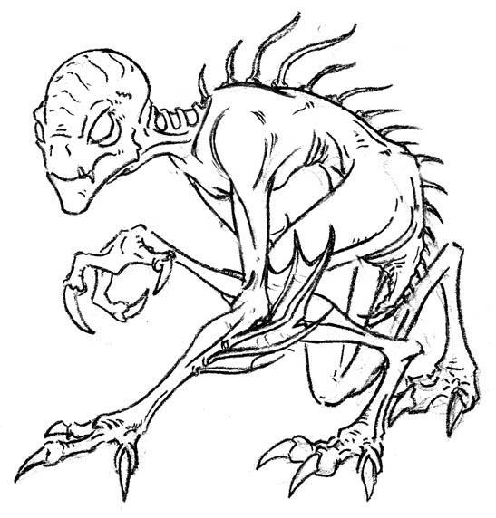 Easy Chupacabra Drawing Chupacabra by art-minion-