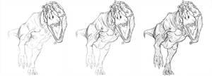 Tyrannosaurus WIP by Art-Minion-Andrew0