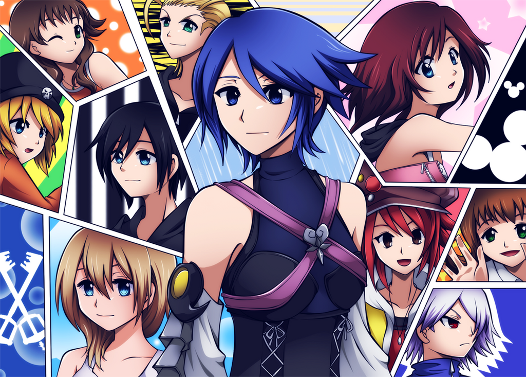 Kingdom Hearts girls by ViChaN91312
