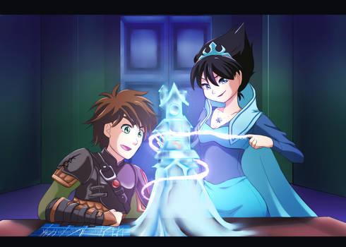 Commission Hiccup Elsa