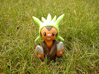 Chespin, the grass starter again by chibelin